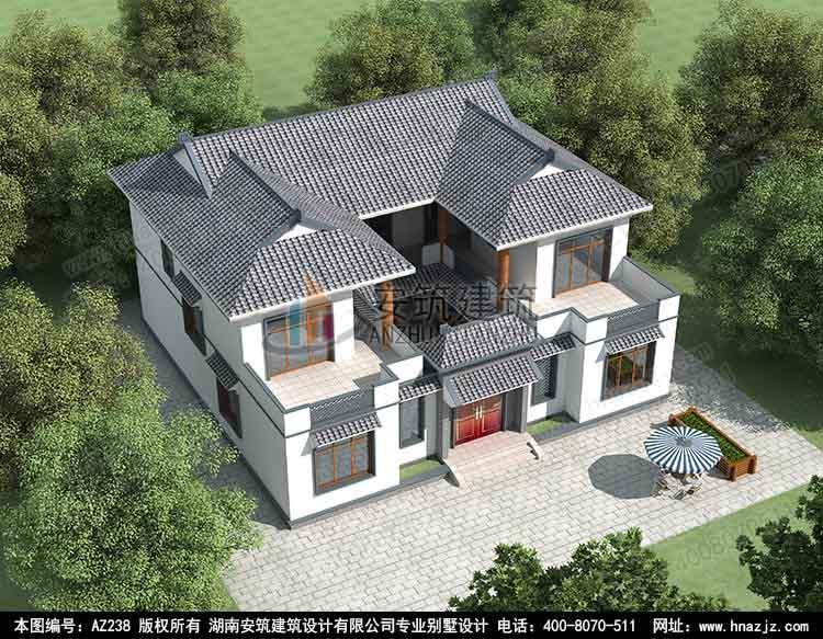 二层别墅图纸效果图_2020四合院别墅设计,四合院效果图及全套施工图纸